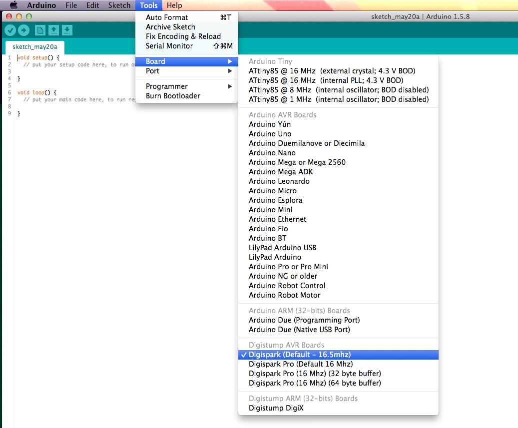 Programming an Olimexino 85